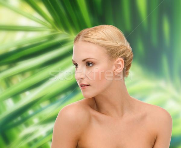 Cara ombro mulher jovem saúde beleza limpar Foto stock © dolgachov