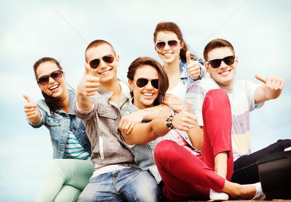 Stockfoto: Tieners · tonen · zomer · vakantie