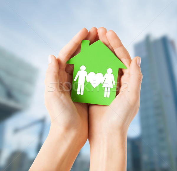 рук теплица семьи недвижимости дома Сток-фото © dolgachov
