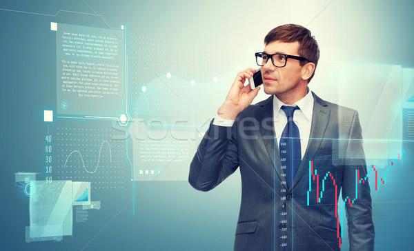 сотового телефона forex диаграммы бизнеса деньги технологий Сток-фото © dolgachov