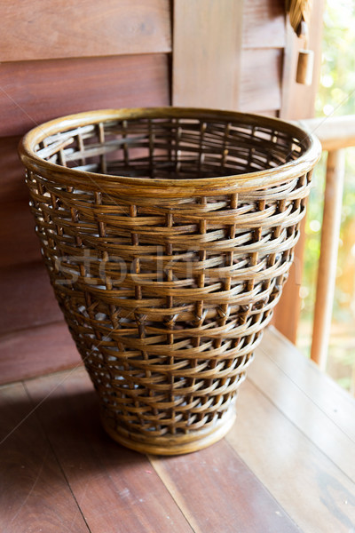 close up of wicker basket Stock photo © dolgachov