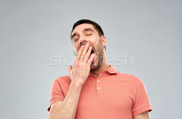 Man grijs mensen moe hand Stockfoto © dolgachov