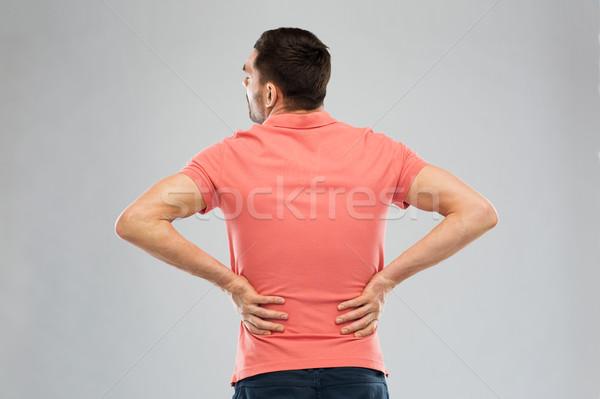 不幸 男 腰痛 ホーム 人 ストックフォト © dolgachov