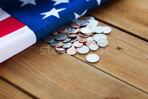 Bandeira americana dinheiro orçamento financiar crise Foto stock © dolgachov