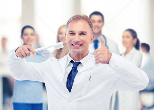 Fogorvos fogkefe kórház egészségügy orvosi egészség Stock fotó © dolgachov