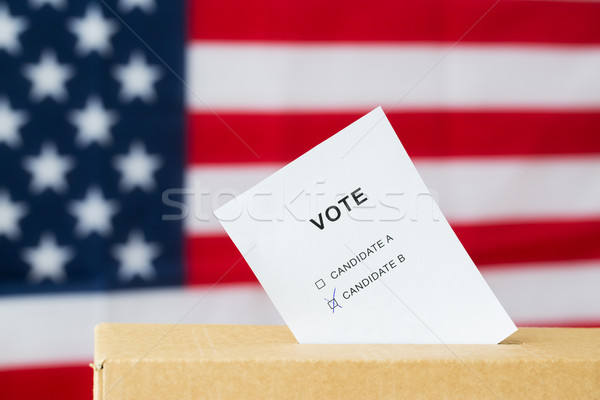 Szavazás szavazócédula doboz rés választás szavazás Stock fotó © dolgachov
