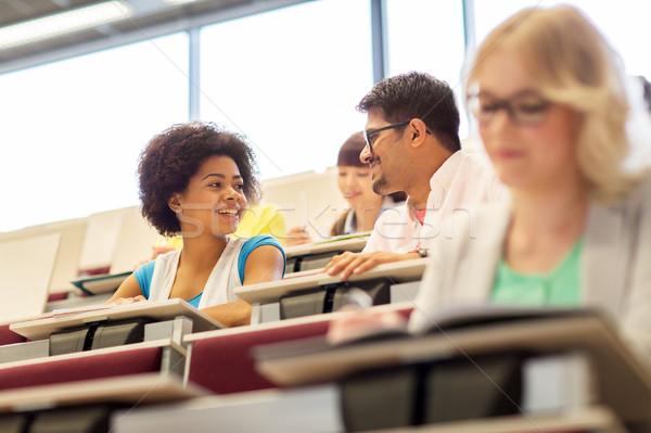 国際 学生 話し 講義 ホール 教育 ストックフォト © dolgachov