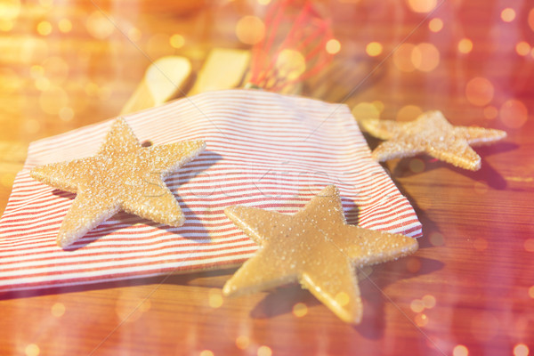 christmas gingerbread and baking kitchenware set Stock photo © dolgachov