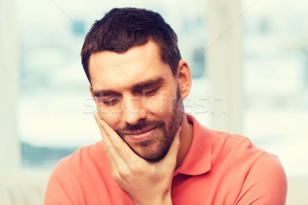不幸 男 歯痛 ホーム 人 ストックフォト © dolgachov