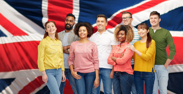 Nemzetközi csoport boldog mosolyog emberek bevándorlás Stock fotó © dolgachov