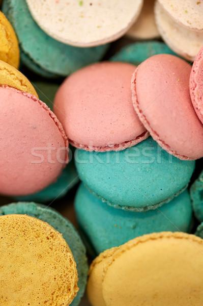 Macarons cozinhar confeitaria sobremesa Foto stock © dolgachov