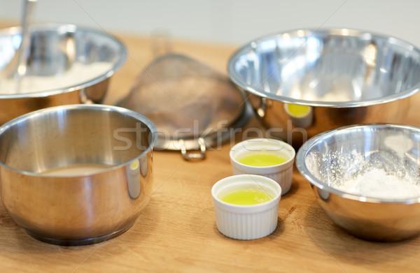 кегли мучной яйцо хлебобулочные кухне приготовления Сток-фото © dolgachov