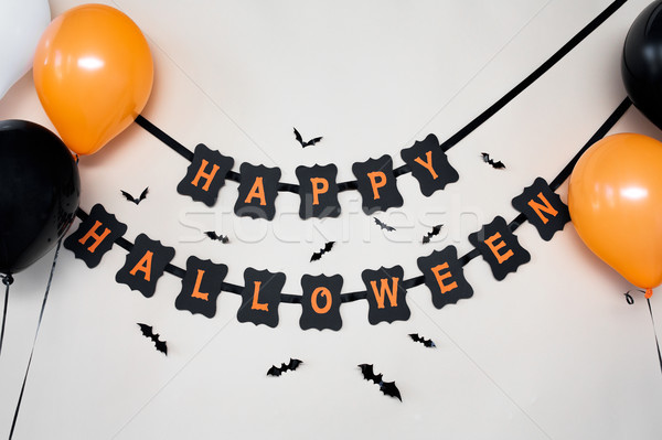 happy halloween party garland with air balloons Stock photo © dolgachov
