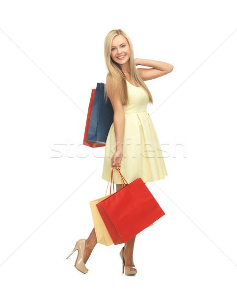Kadın elbise yüksek topuklu resim zarif Stok fotoğraf © dolgachov
