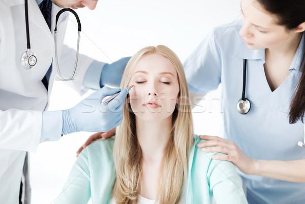 Plastik cerrah hemşire hasta sağlık tıbbi Stok fotoğraf © dolgachov