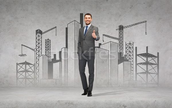 Сток-фото: красивый · бизнесмен · бизнеса · жест