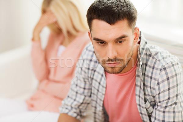 Сток-фото: несчастный · пару · аргумент · домой · люди · отношения