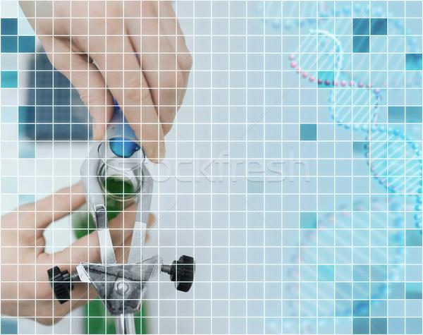 Közelkép tudós tömés teszt csövek labor Stock fotó © dolgachov