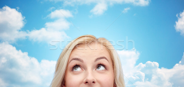 счастливым лице любопытство реклама Сток-фото © dolgachov