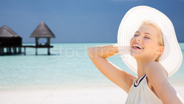Bella donna estate esotiche spiaggia persone Foto d'archivio © dolgachov