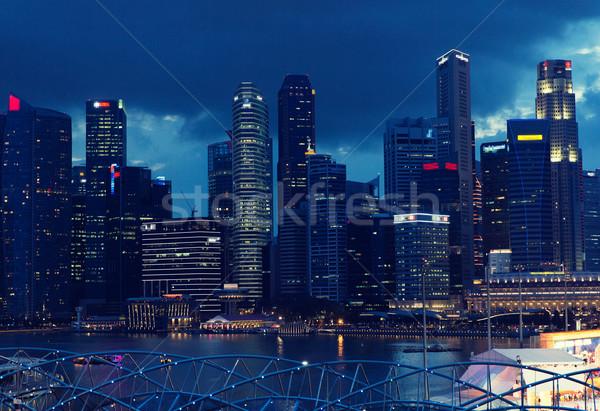 Mooie Bangkok City Night reizen vakantie Stockfoto © dolgachov