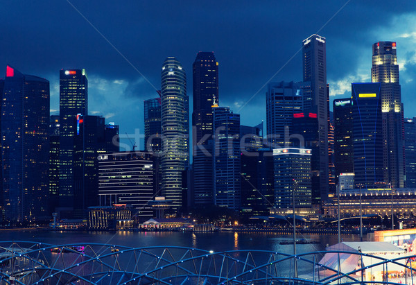 Bella view Bangkok Night City viaggio vacanze Foto d'archivio © dolgachov