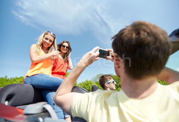Stockfoto: Vrienden · rijden · auto · recreatie · weg