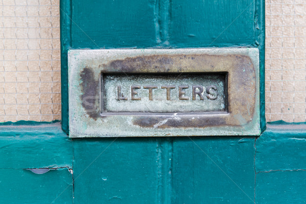 Vintage mailbox communicatie correspondentie mail Stockfoto © dolgachov