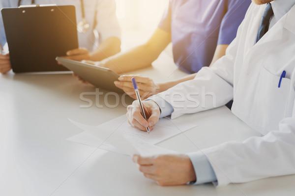 счастливым врачи семинара больницу образование Сток-фото © dolgachov