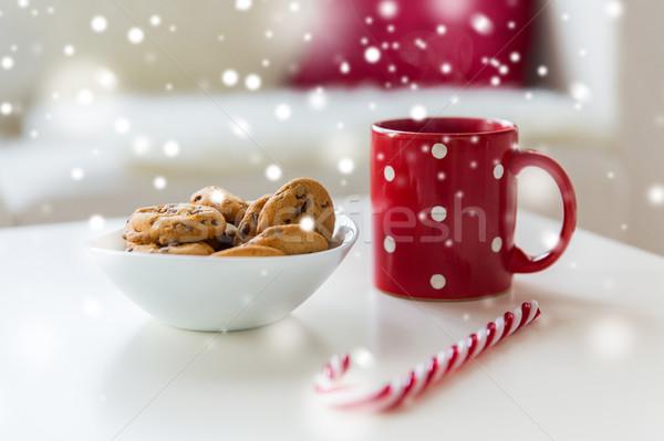 Stock fotó: Közelkép · zab · sütik · cukornád · cukorka · csésze