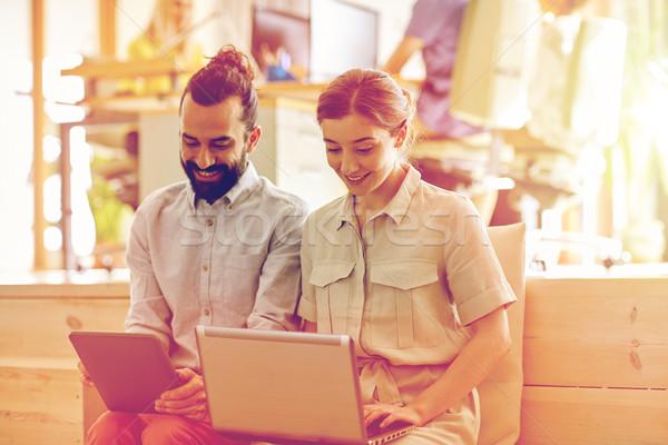 Stockfoto: Creatieve · team · laptop · kantoor · business