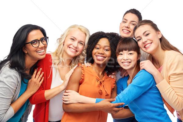 международных группа счастливым женщины разнообразия Сток-фото © dolgachov