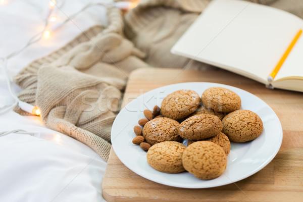 オートミール クッキー プレート ホーム 食品 ストックフォト © dolgachov
