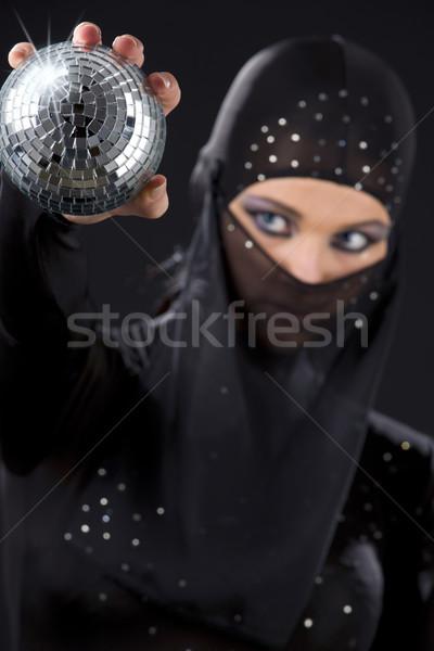 Nindzsa buli táncos ruha diszkógömb fókusz Stock fotó © dolgachov