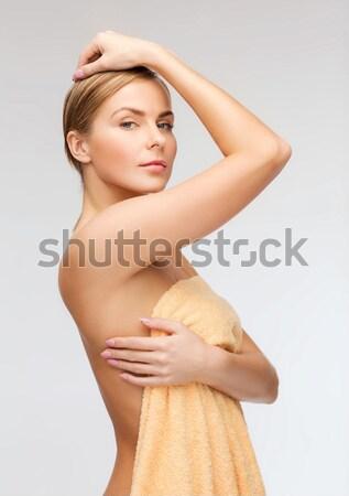 Hermosa top-less mujer brillante primer plano Foto Foto stock © dolgachov