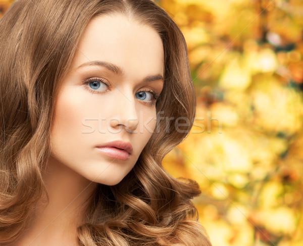 美人 長髪 健康 美 顔 黄色 ストックフォト © dolgachov