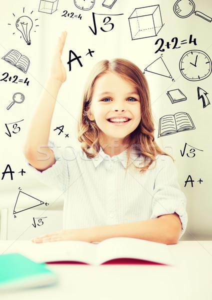 ストックフォト: 学生 · 少女 · 勉強 · 学校 · 教育