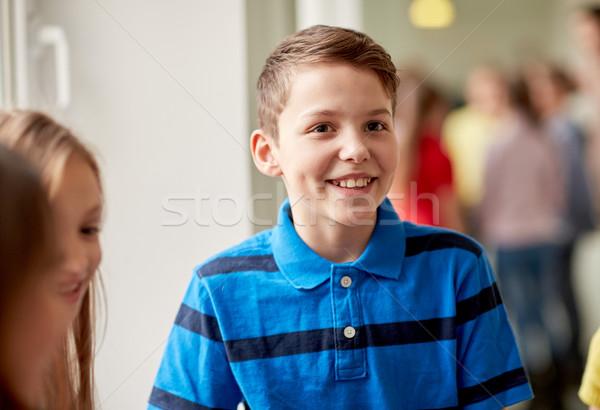 группа улыбаясь школы дети коридор образование Сток-фото © dolgachov