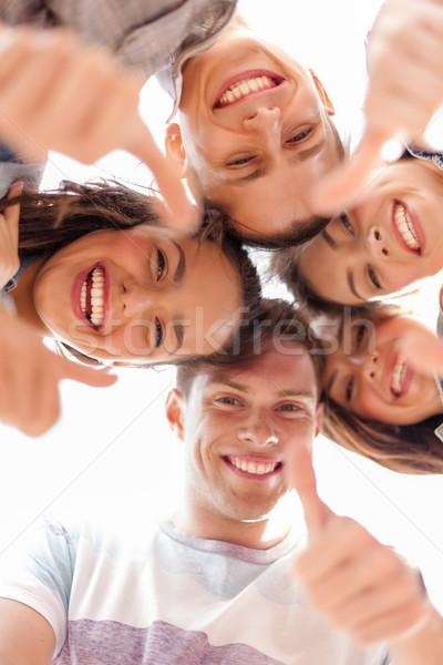 グループ 笑みを浮かべて 青少年 下向き 夏 休日 ストックフォト © dolgachov