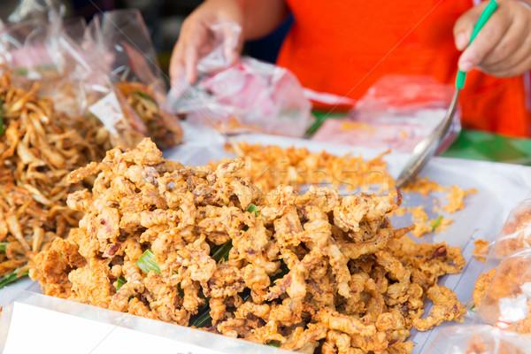 Stock fotó: Közelkép · szakács · kezek · harapnivalók · utca · piac