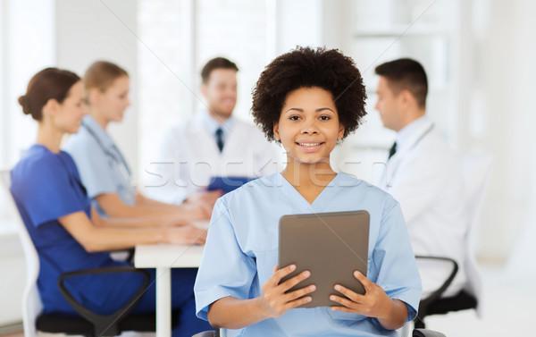 Heureux médecin équipe clinique profession Photo stock © dolgachov