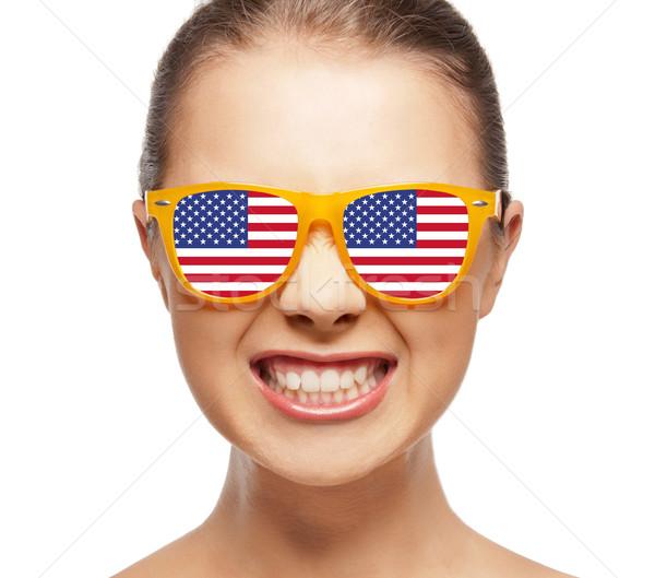 Feliz bandera de Estados Unidos personas orgullo día Foto stock © dolgachov