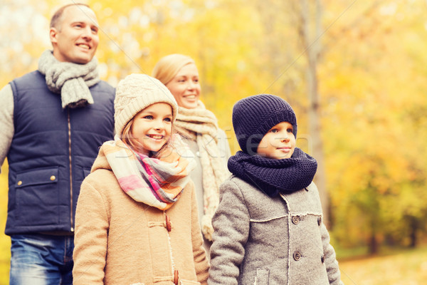 Stock foto: Glückliche · Familie · Herbst · Park · Familie · Kindheit · Jahreszeit