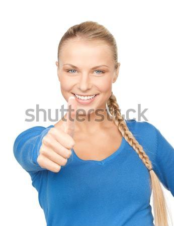 рукопожатие женщину открытых стороны готовый бизнеса Сток-фото © dolgachov