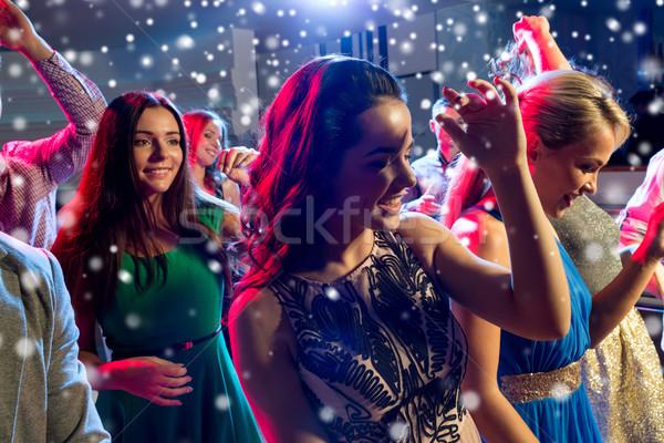 笑みを浮かべて 友達 ダンス クラブ パーティ 休日 ストックフォト © dolgachov