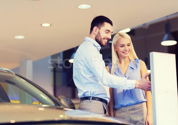 Feliz Pareja compra coche auto mostrar Foto stock © dolgachov
