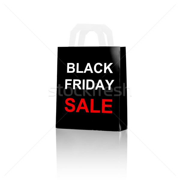 shopping bag with sale and black friday word Stock photo © dolgachov