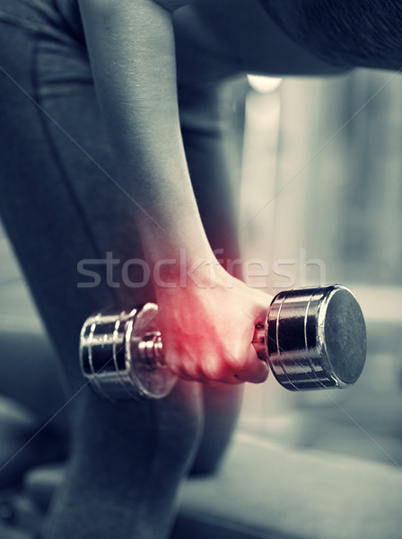 Kobieta siłowni fitness Zdjęcia stock © dolgachov