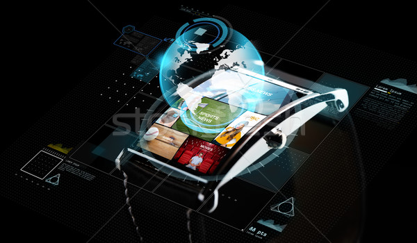 スマート 時計 メディア 投影 現代 ストックフォト © dolgachov