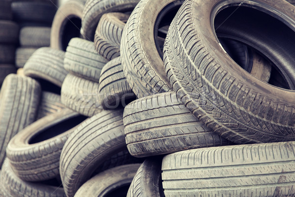 close up of wheel tires Stock photo © dolgachov